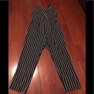 Ladies striped jumpsuit